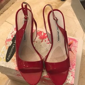 Chinese laundry patent leather red heels